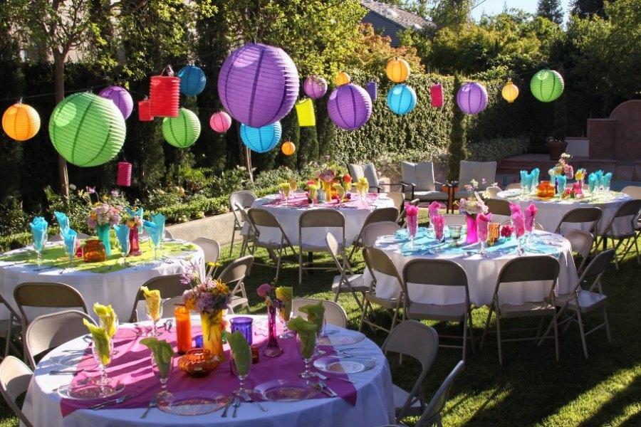Kerti parti - Dekorációk